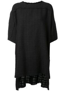 Faith woven raw edge T-shirt