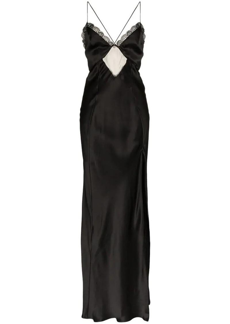 Faith Connexion fitted silk maxi dress
