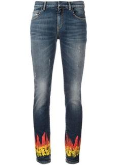 Faith flame print skinny jeans