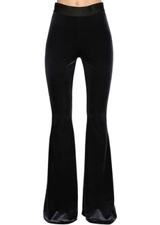 Faith Flared Stretch Velvet Pants