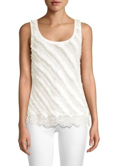Faith Fringed Lace-Hem Tank Top