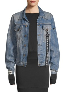 Faith Glitter Denim Jacket