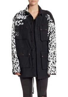 Faith Graffiti Cotton Parka