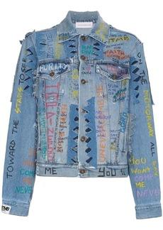 Faith Graffiti Denim Jacket
