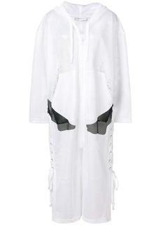 Faith hooded mesh coat