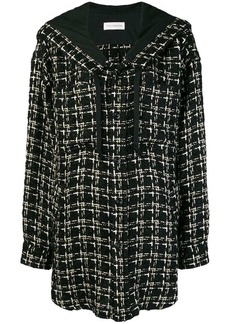 Faith hooded tweed coat