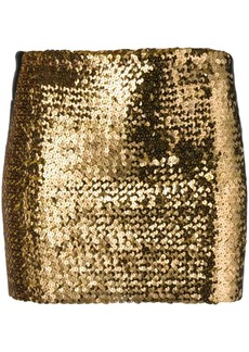 Faith Kappa band sequin mini skirt