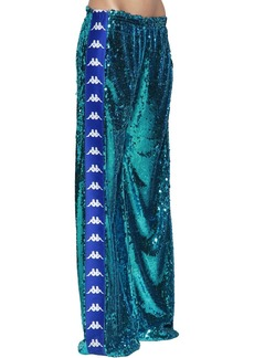 Faith Kappa Sequined Wide Leg Track Pants