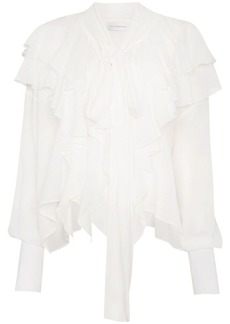 Faith Laval silk ruffled blouse