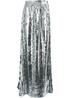 Faith logo stripe sequin maxi skirt