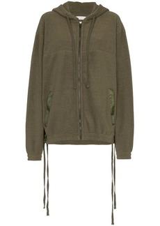 Faith long sleeve oversized zipped hoodie