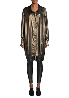 Faith Metallic Oversized Blouse