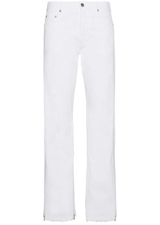 Faith Mid rise jeans with zip detail at hem
