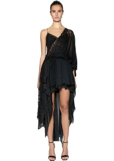 Faith Nvds Asymmetrical Silk & Lace Dress