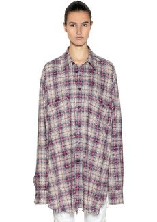 Faith Oversize Studded Check Cotton Shirt