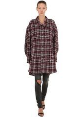 Faith Connexion Oversized Mohair Blend Tweed Cape Jacket