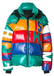 Faith panelled hooded puffer jacket
