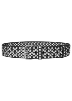 Faith Perforated and Studded Leather Belt