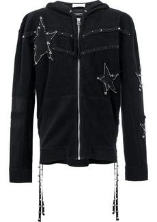 Faith pin embellished stars hoodie