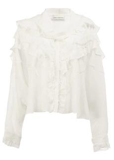 Faith ruffled blouse