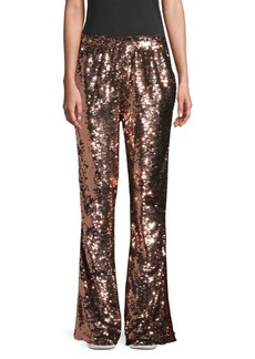 Faith Sequin Side Logo Flared Track Pants