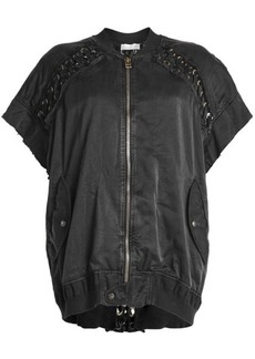 Faith Short Sleeved Jacket with Lace-Up Detail