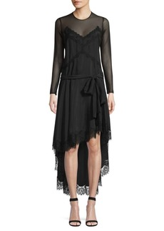Faith Silk & Lace High-Low Dress
