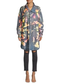 Faith Splatter Denim Oversize Shirt Jacket