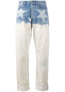 Faith star print wide-leg jeans