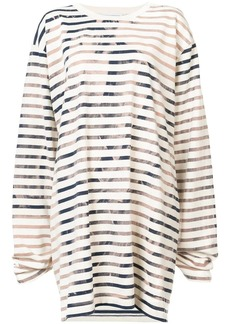 Faith striped sweatshirt dress