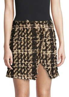 Faith Tweed Raw Edge Mini Skirt