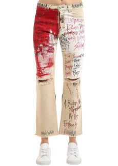Faith Vintage Painted & Destroyed Denim Jeans