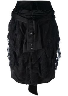 Faith wrap shirt skirt