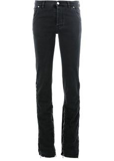 Faith zip leg flared jeans