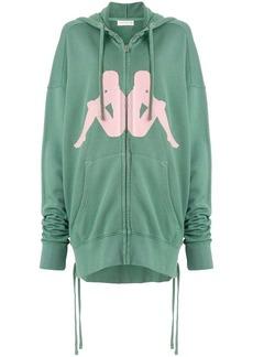 Faith zipped hooded sweatshirt