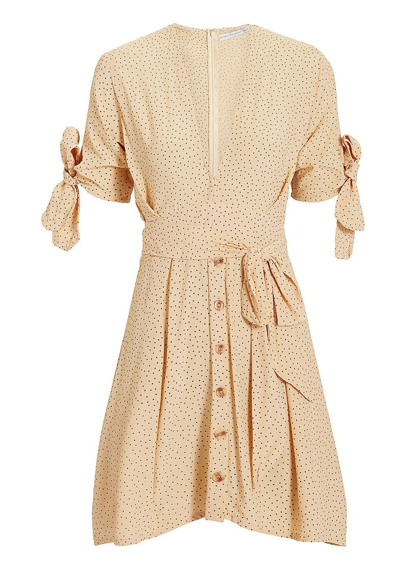 Faithfull the Brand Birgit Tie Mini Dress