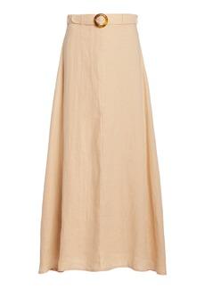 Faithfull The Brand - Women's Devon Belted Linen Midi Skirt - Neutral - Moda Operandi