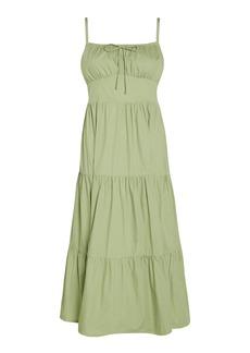 Faithfull The Brand Alexia Cotton Poplin Midi Dress