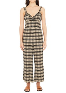 FAITHFULL THE BRAND Cancun Plaid Jumpsuit