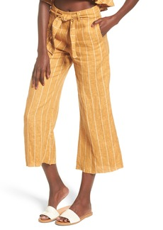 FAITHFULL THE BRAND Como Wide Leg Crop Linen Pants