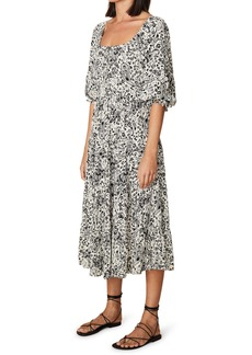 Faithfull the Brand Elbow Sleeve Paisley Crepe Dress