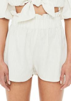 FAITHFULL THE BRAND Habana Paperbag Waist Linen Shorts