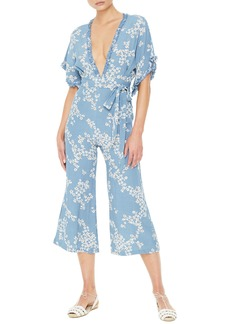 FAITHFULL THE BRAND La Villa Floral Print Crop Jumpsuit