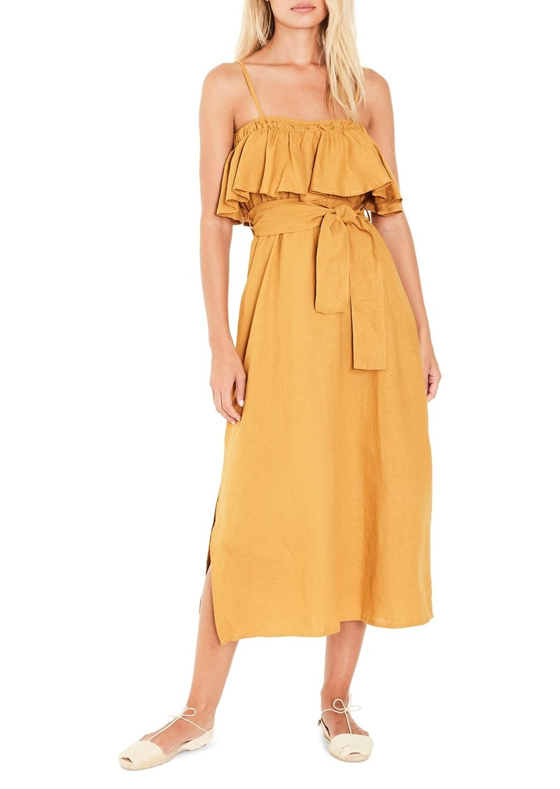 FAITHFULL THE BRAND Santo Linen Midi Dress