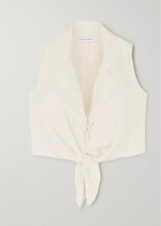 Faithfull the Brand Fernanda Cropped Tie-front Linen Top