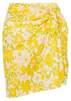 Faithfull the Brand Floral-print Cotton-voile Pareo