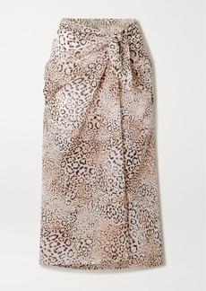 Faithfull the Brand Leopard-print Cotton-voile Pareo