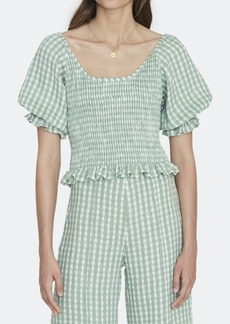 Faithfull the Brand Lindy Shirred Linen Crop Top - M - Also in: L, XL