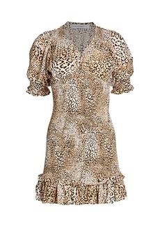 Faithfull the Brand Margherita Mini Leoaprd Dress