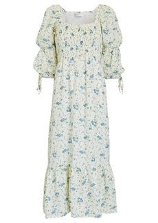 Faithfull the Brand Marita Floral Linen Midi Dress